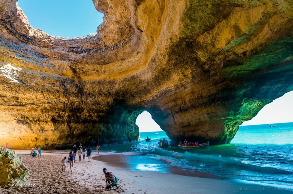 Falling Into Water Wallpaper Benagil The Best Way To Discover The Benagil Cave Portugal