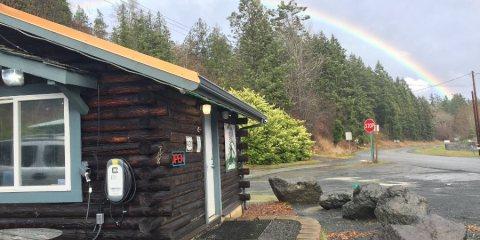 Rainbows are prevalent in Disco Bay