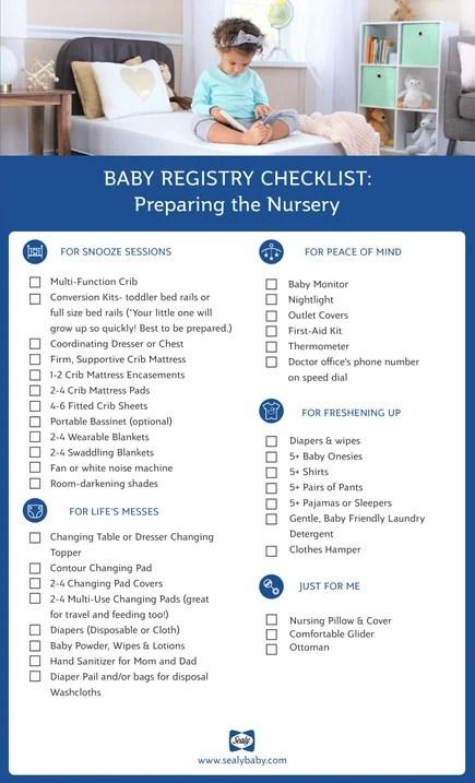 Baby Registry Checklist Sealy Baby
