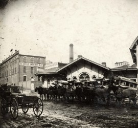 Great Western Railway Station, Toronto, 1873. Source: Toronto Public Library, E 2-35b.