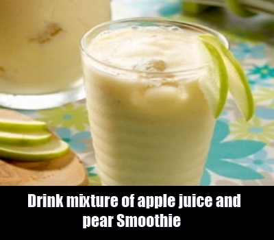 apple juice and pear smoothie