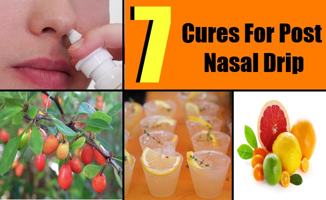 7 Cures For Post Nasal Drip