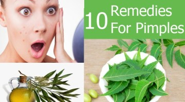 10 Remedies for Pimples