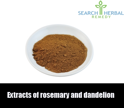 extracts of rosemary and dandelion