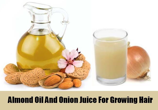 Almond Oil And Onion Juice For Growing Hair