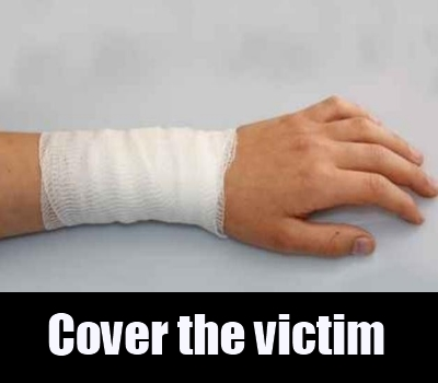 cover the victim