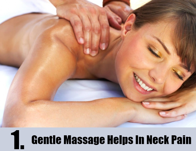 Gentle Massage Helps In Neck Pain