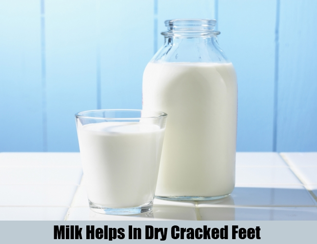Milk Helps In Dry Cracked Feet
