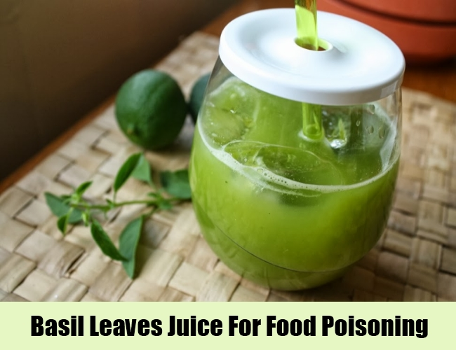 Basil Leaves Juice For Food Poisoning
