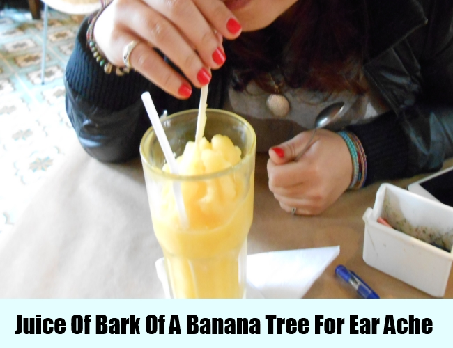 Juice Of Bark Of A Banana Tree For Ear Ache