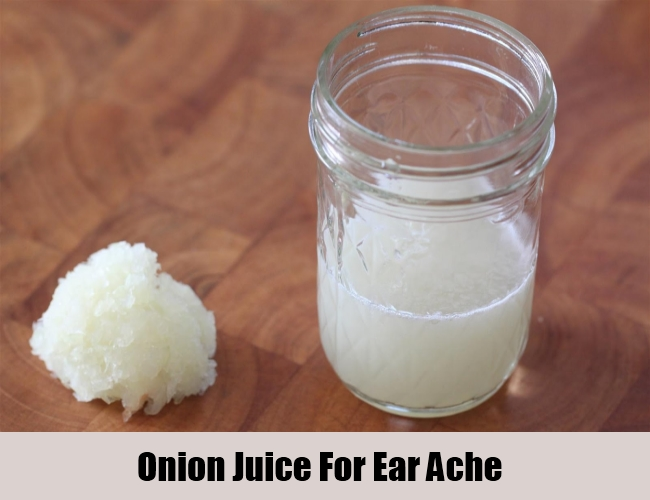 Onion Juice For Ear Ache