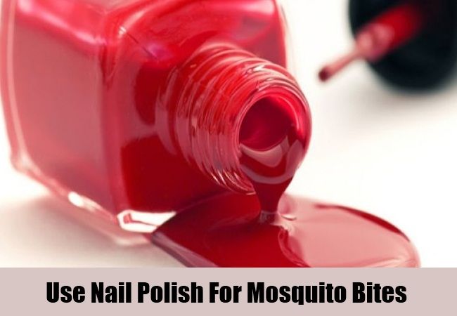 Use Nail Polish For Mosquito Bites