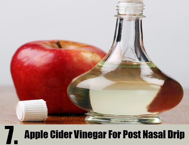 Apple Cider Vinegar For Post Nasal Drip`
