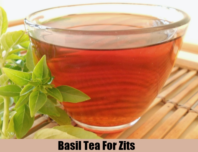 Basil Tea For Zits