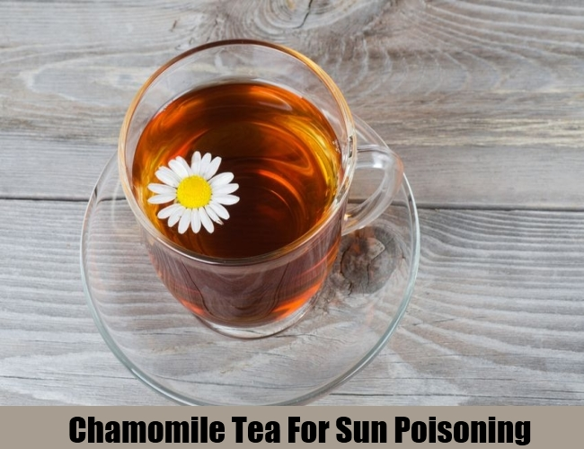 Chamomile Tea For Sun Poisoning