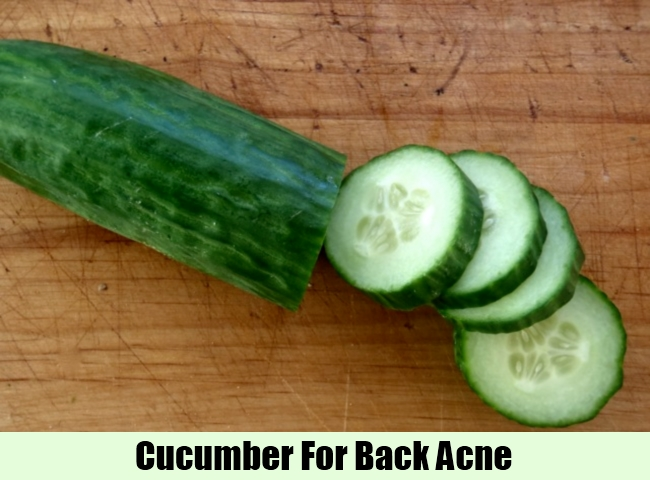 Cucumber For Back Acne