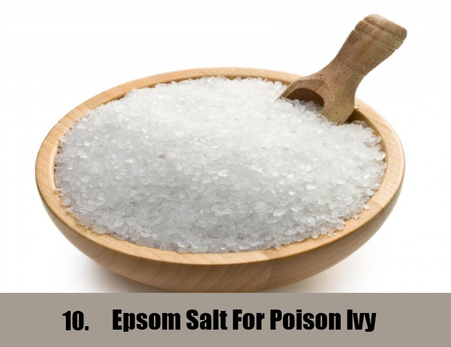 Epsom Salt For Poison Ivy