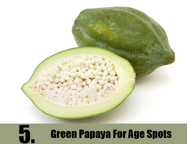 Green Papaya For Age Spots