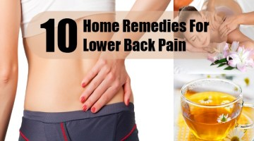 Home Remedies For Lower Back Pain