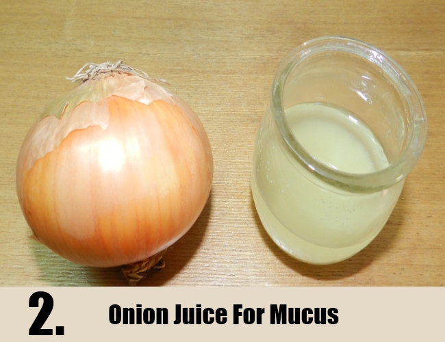 Onion Juice For Mucus
