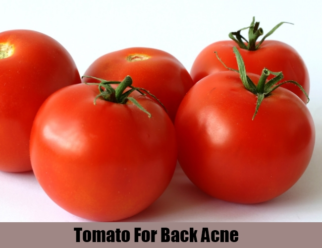 Tomato For Back Acne