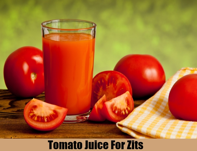 Tomato Juice For Zits