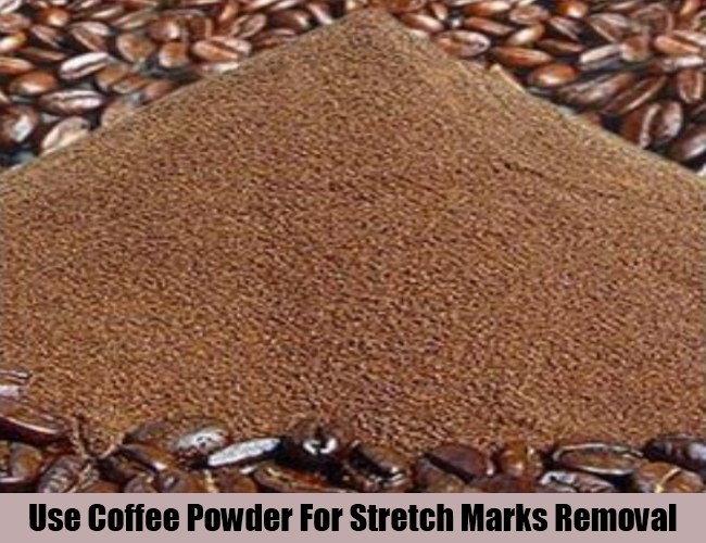 Use Coffee Powder For Stretch Marks Removal