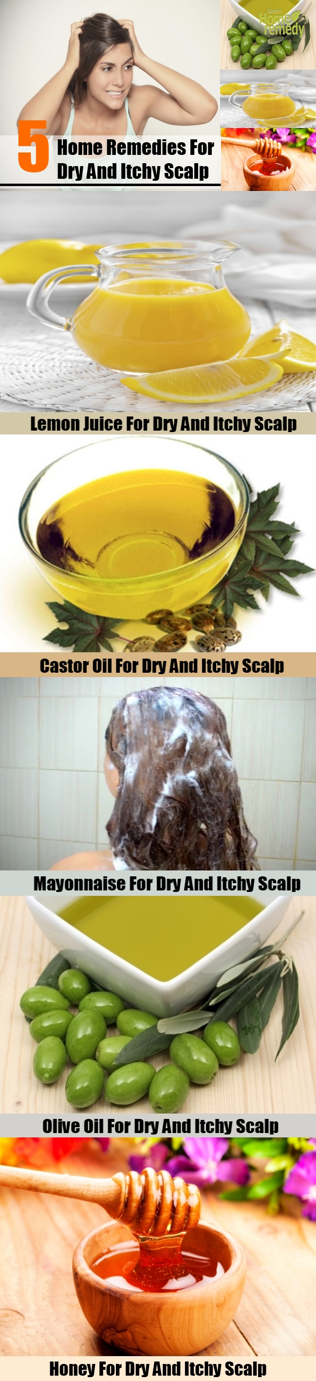 5 Home Remedies For Dry And Itchy Scalp