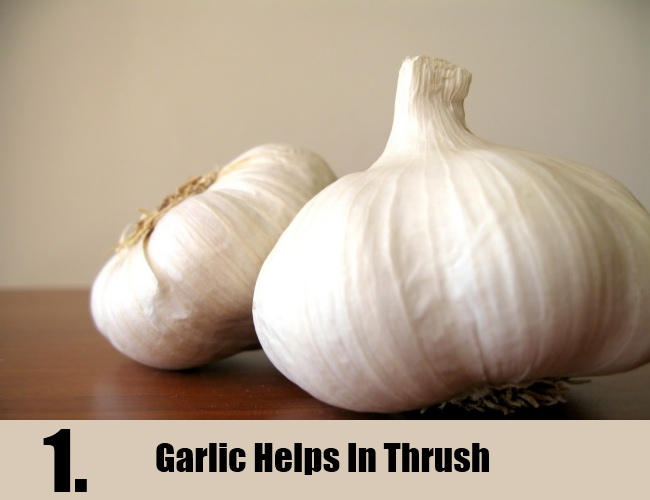 Garlic Helps In Thrush