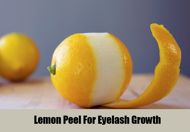Lemon Peel For Eyelash Growth