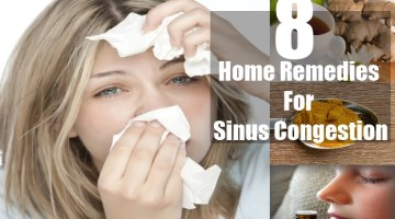 Home Remedies For Sinus Congestion