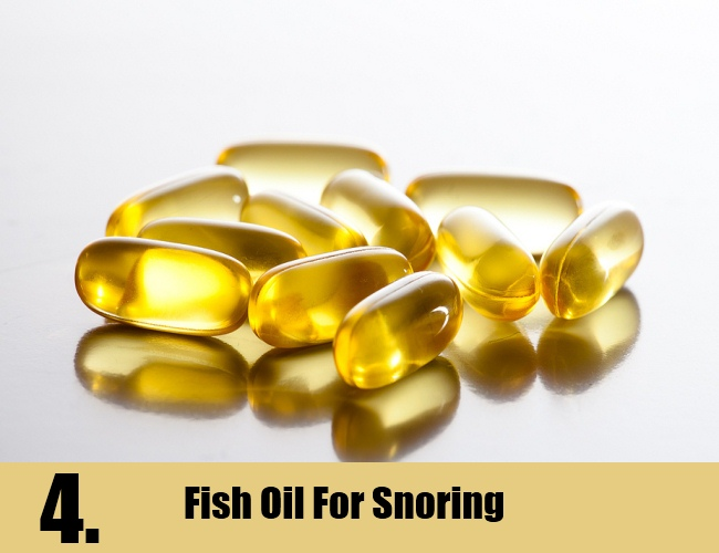 Fish Oil For Snoring