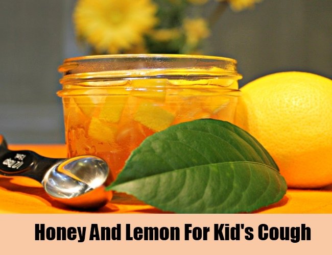Honey And Lemon For Kid's Cough