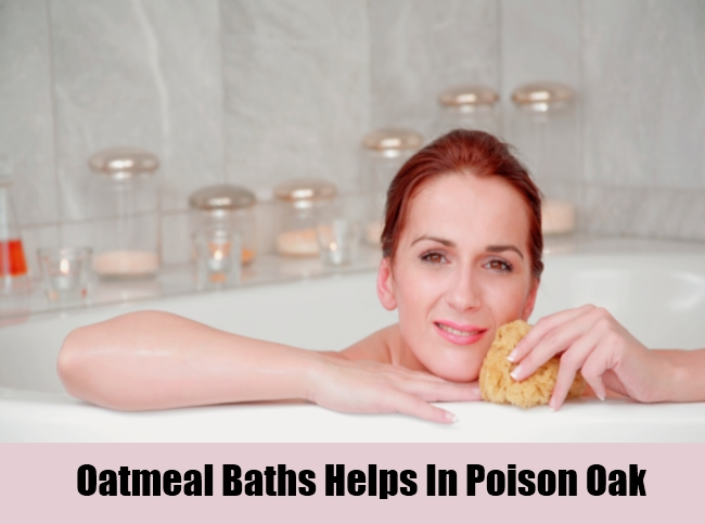 Oatmeal Baths Helps In Poison Oak