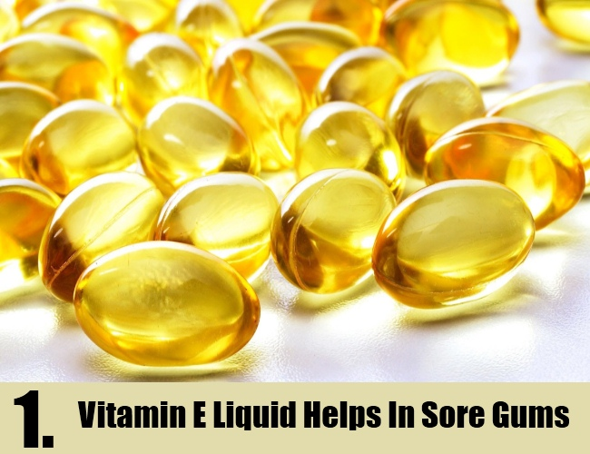 Vitamin E Liquid Helps In Sore Gums