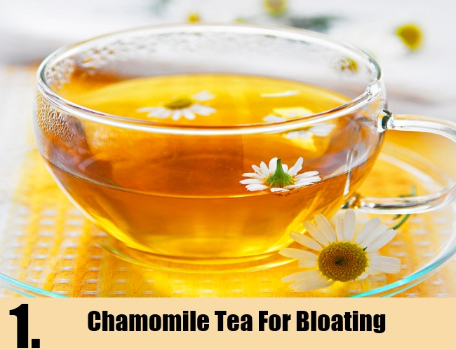 Chamomile Tea For Bloating
