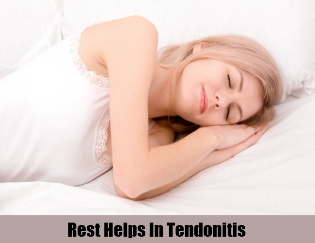 Rest Helps In Tendonitis