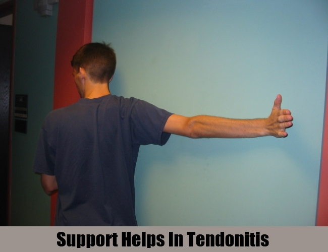 Support Helps In Tendonitis