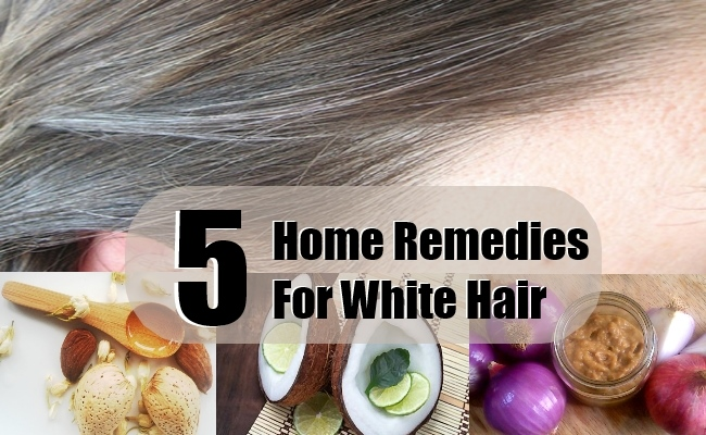 5 Best Home Remedies For White Hair