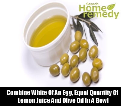 Lemon Juice, Egg White & Olive Oil