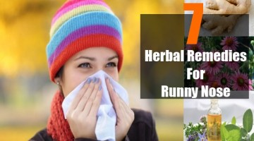 Herbal Remedies For Runny Nose