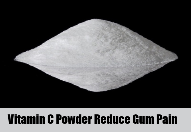 Vitamin C Powder Reduce For Gum Pain