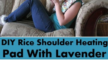 Rice Shoulder Heating Pad With Lavender