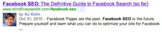 rel=author SERP Display