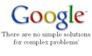 Image of Google's There are No Simple Solutions Quote