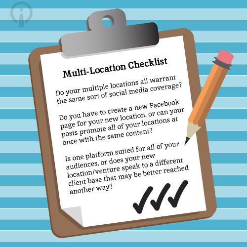 Checklist Image For Multiple Locations On Social Media - Search Influence