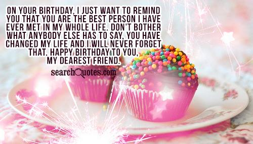 Life Legacy Letter Happy Birthday To A Very Special Friend Quotes