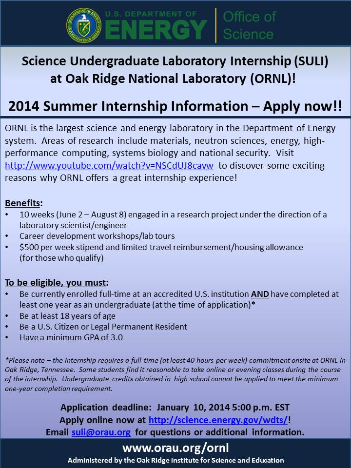 Internship/Job Announcements 2013 OASA