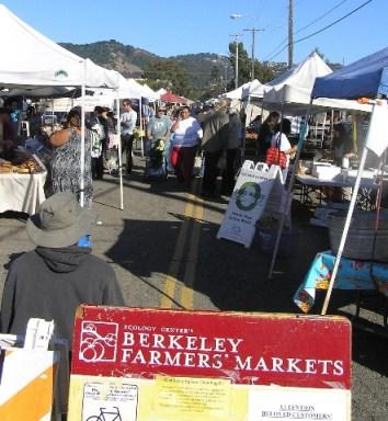 farmers market in Berkeley, Calif.