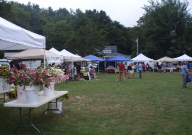 farmers market in Boothbay, Maine